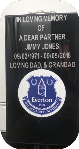 Everton  F. C. Square grave flower pot..
